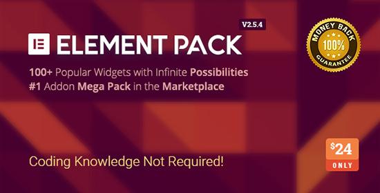 Element Pack Addon Elementor WordPress Plugin میز وردپرس