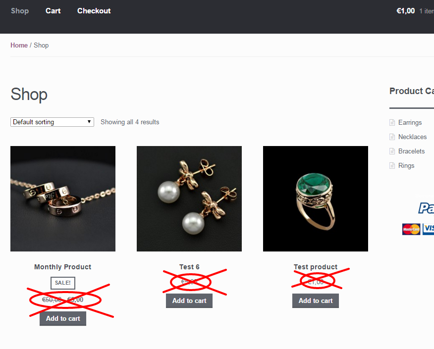 woocommerce hide prices shop category page میز وردپرس